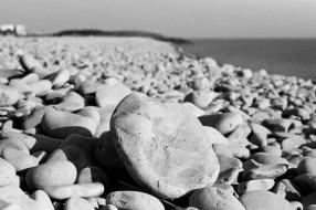 Pebble on Cold Knap Beach - South Wales