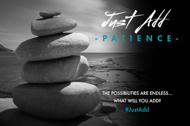 Just Add Patience banner linking to gallery