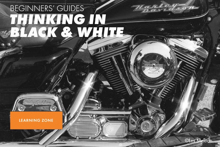 Hero banner linking to learning zone article - thinking in black and white