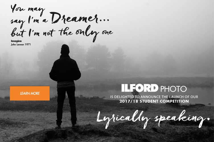 Banner linking to Ilford Photo student photo comp 2017/18