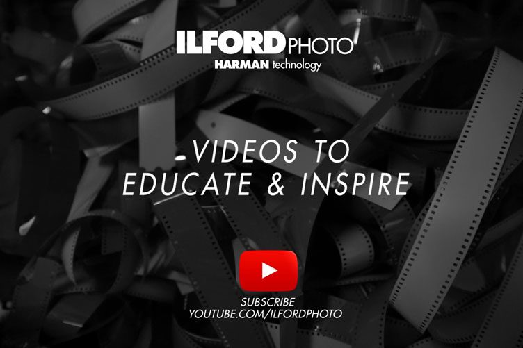 Hero banner linking to ILFORDPHOTO youtube account
