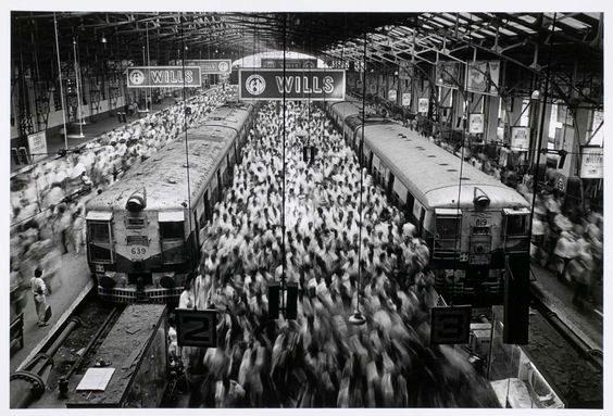 Churchgate Station, Bombay, India 1995 ©SEBASTIAO SALGADO