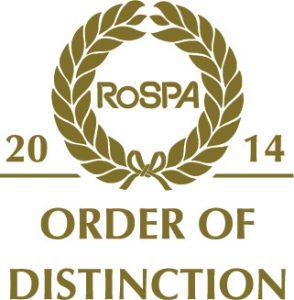 RoSPA Order of Distinction 2014