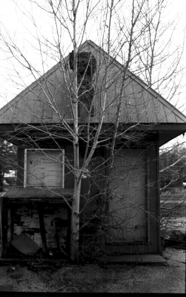 Black and white pinhole image by Sandy Mclennan