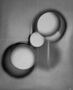 Silver gelatin darkroom print created by Michael jackson using the Luminogram process