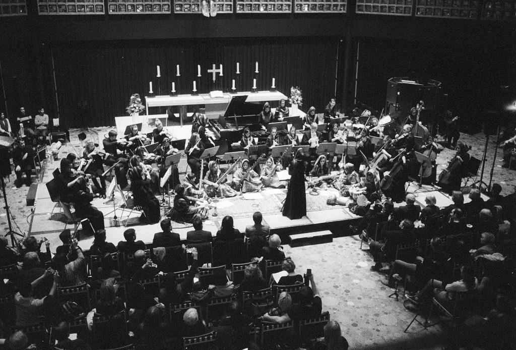 Concert-in-Berlin b&w fiilm photo