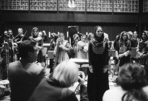 b&w films portrait of Negin,-Afghans-first-female-conductor