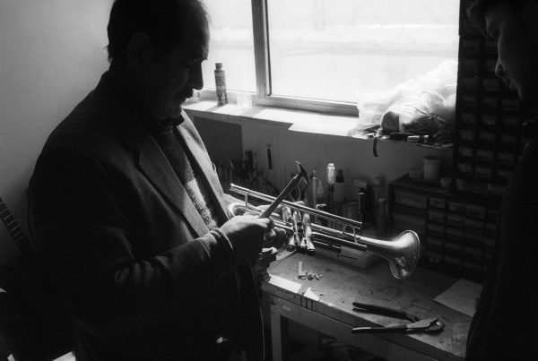 Repairing-a-trumpet