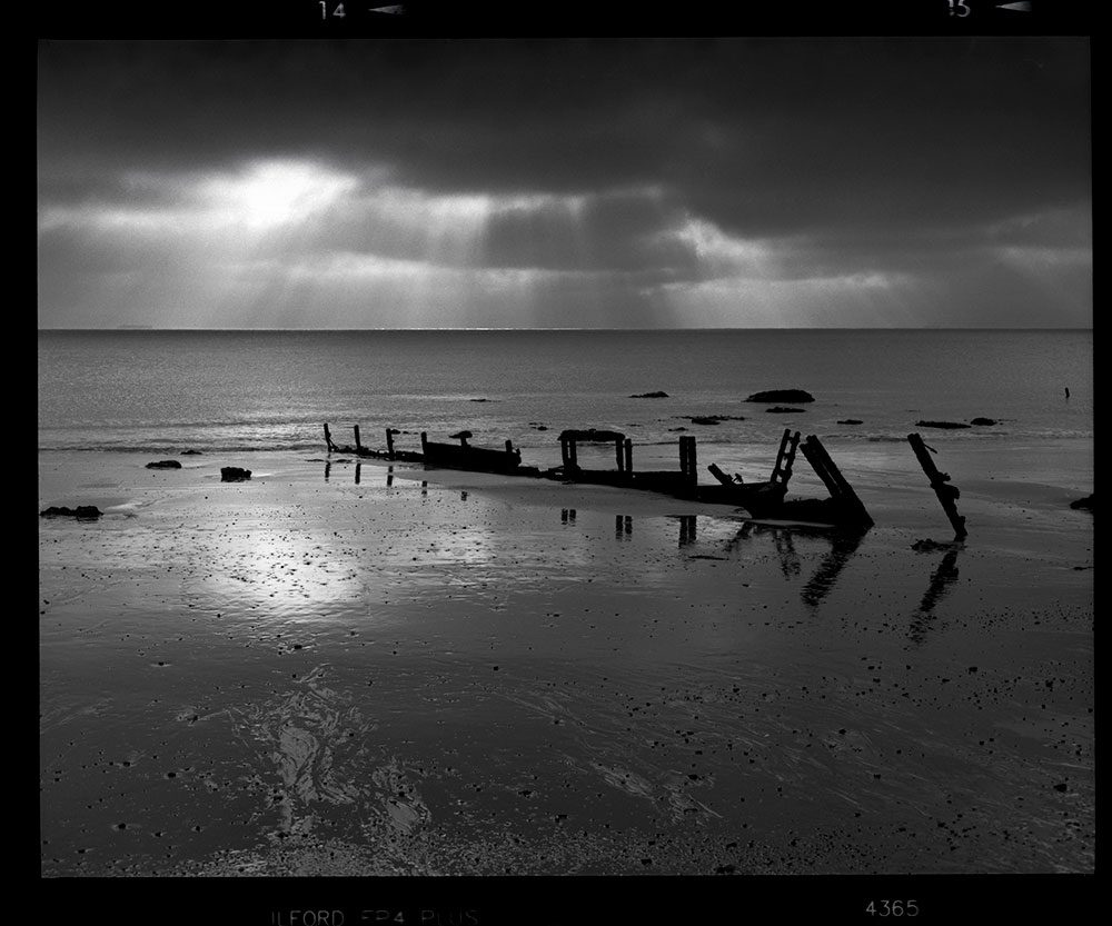 Black and white Landscape shot on ILFORD FP4+ film by Ady Kerry