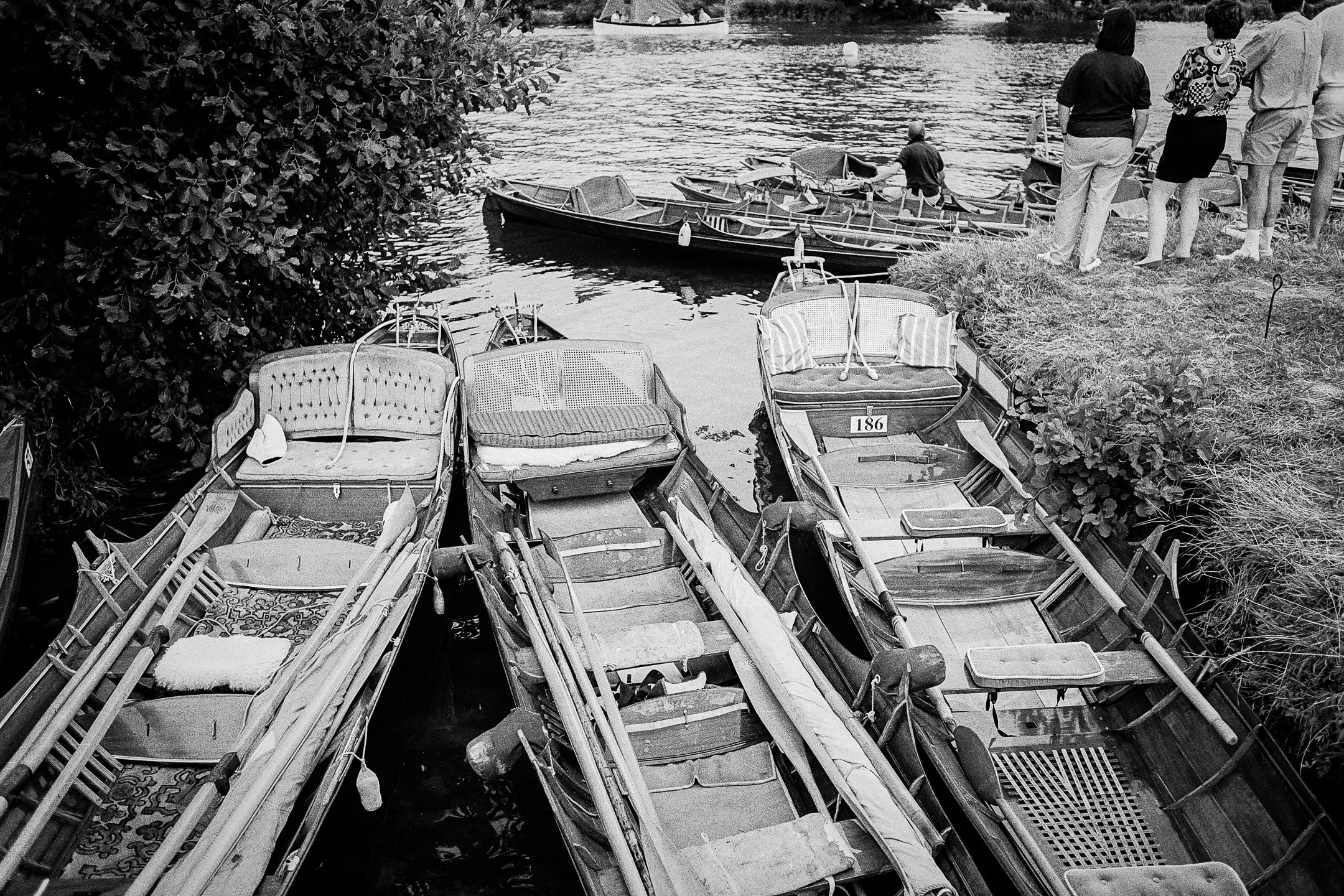 Boats on the River shot on HP5+ film and developed in ID11