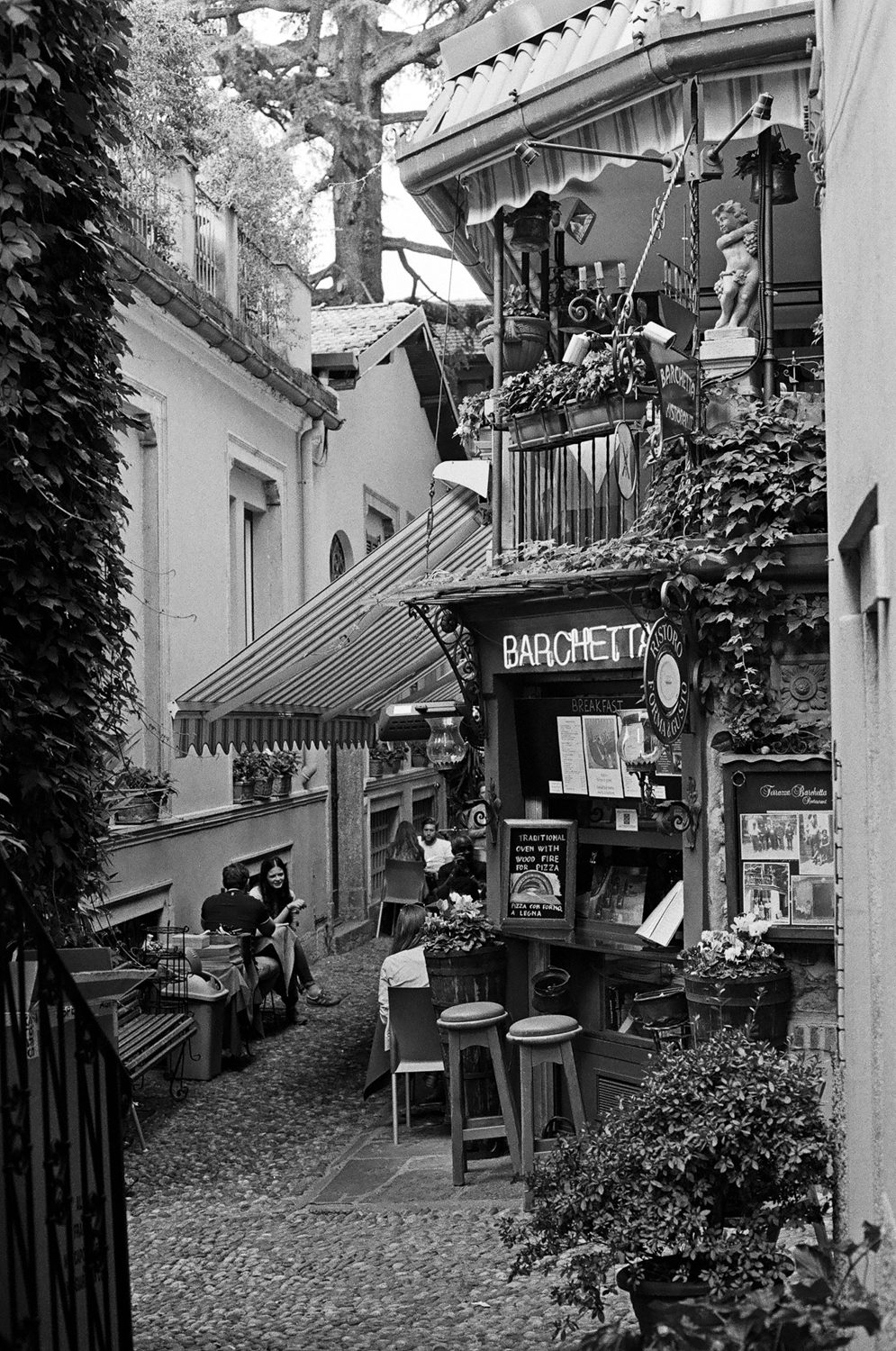 Como Italy - shot on black and white iILFORD Film by Meredith Schofield