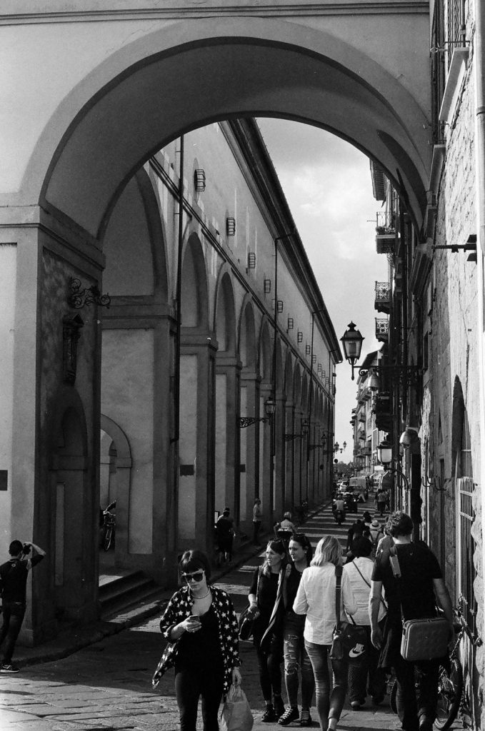 Florence Italy - shot on black and white iILFORD Film by Meredith Schofield