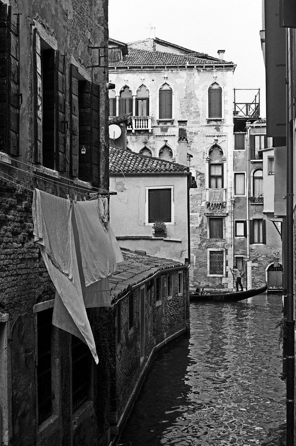 Venice - shot on black and white iILFORD Film by Meredith Schofield