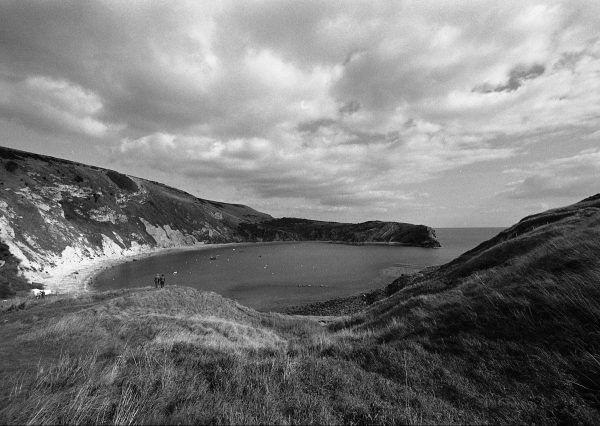 Lulworth Cove shot on HP5+ Black and white film by Jason Avery
