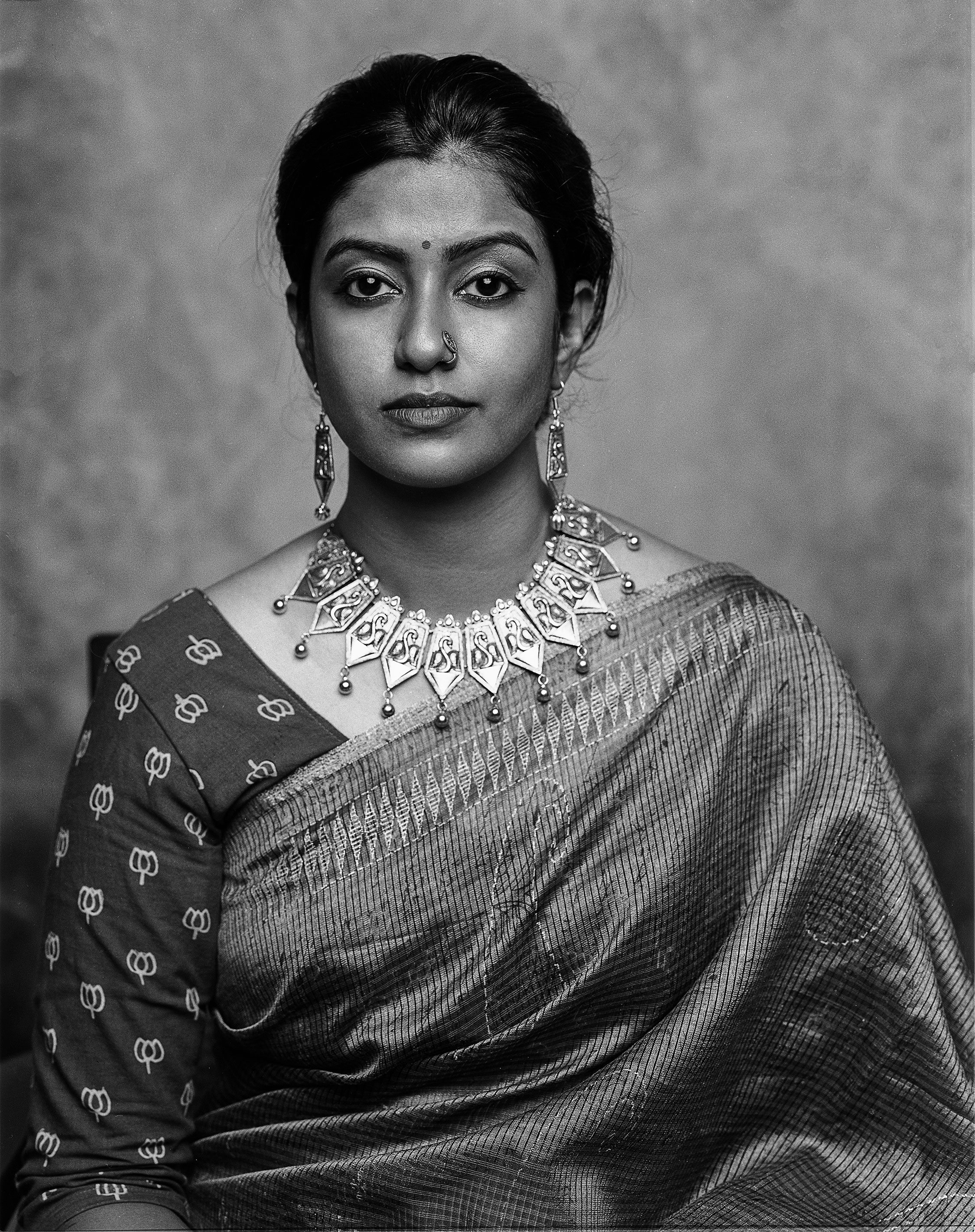 Roshnie shot on black and white ILFORD PHOTO HP5 PLUS film by PV Subramanian