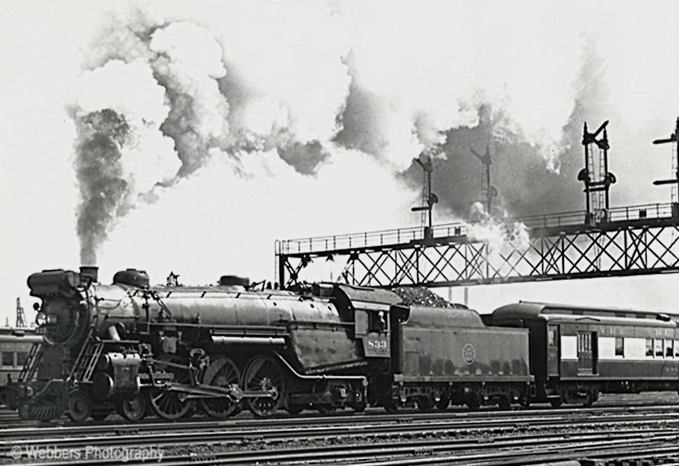 """""""Blue Comet"""" – Dad's action shot of this express train leaving Jersey City, NJ in September 1938"""