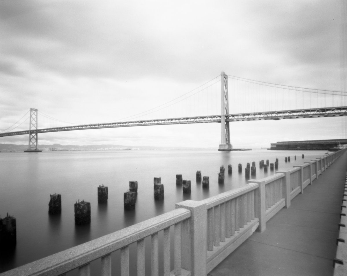 @klizana 17h17 hours ago Hootlet More Bay Bridge - San Francisco, CA 📷Ilford TiTAN 4x5 Pinhole 🎞️Ilford FP4 Plus 125 ⏲️8 secs. exposure 🧪Ilfosol 3 1:9 #ilfordphoto #fridayfavourites #wppd19 #filmphotography #pinhole