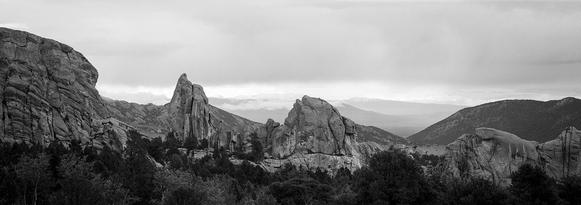 @JeremyCalow 20h20 hours ago Hootlet More Got lucky and got the first roll back from the Idaho trip with some accidentally pushed #ilfordfp4 which is just in time for #fridayfavourites it seems!! #plusfilms #ilfordphoto #believeinfilm City of Rocks - 2 Fuji GX617 / @ILFORDPhoto FP4+ exposed at 400 (accidentally)