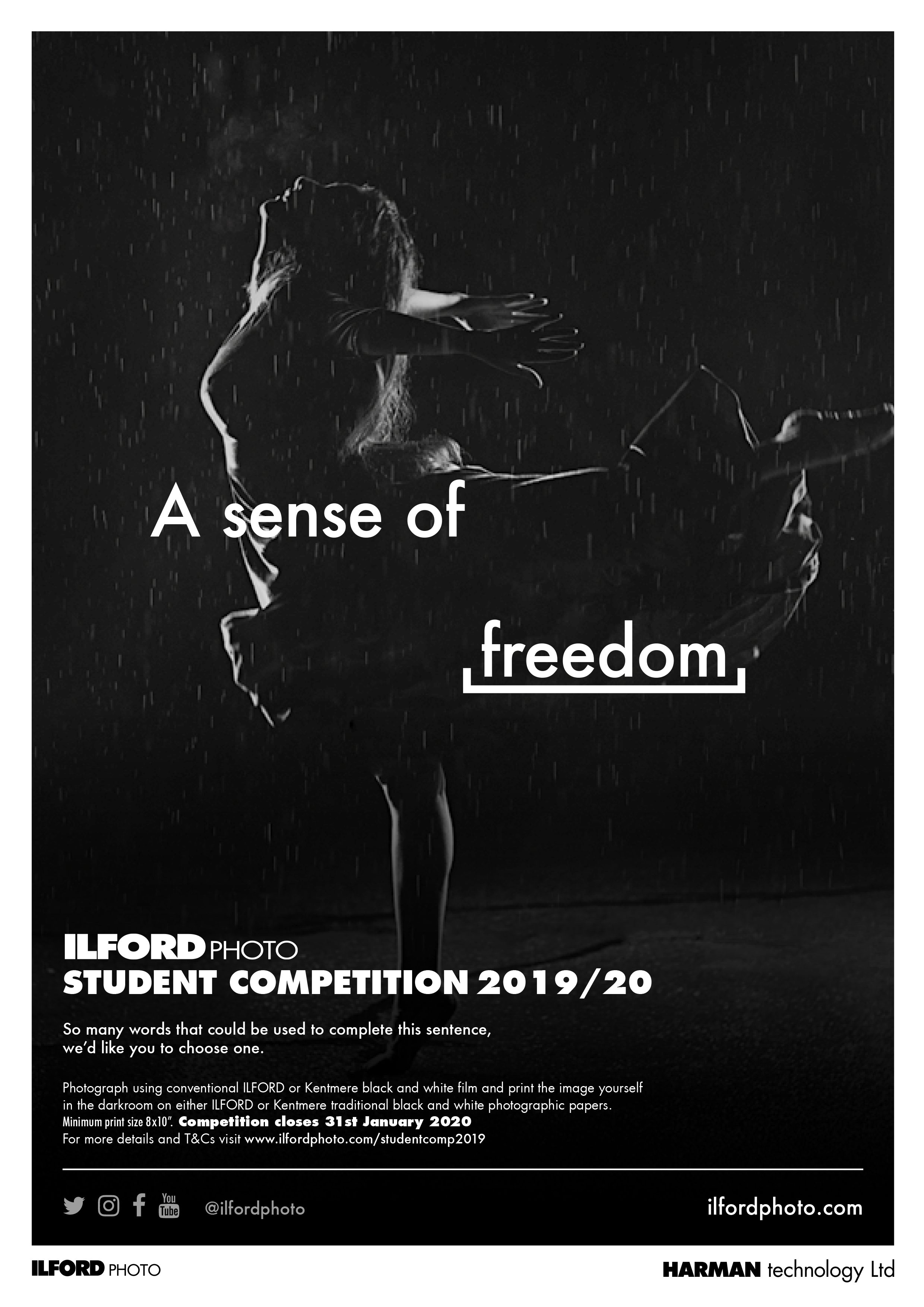 A sense of Freedom poster for ILFORD Photo 2019 Student compet6ition