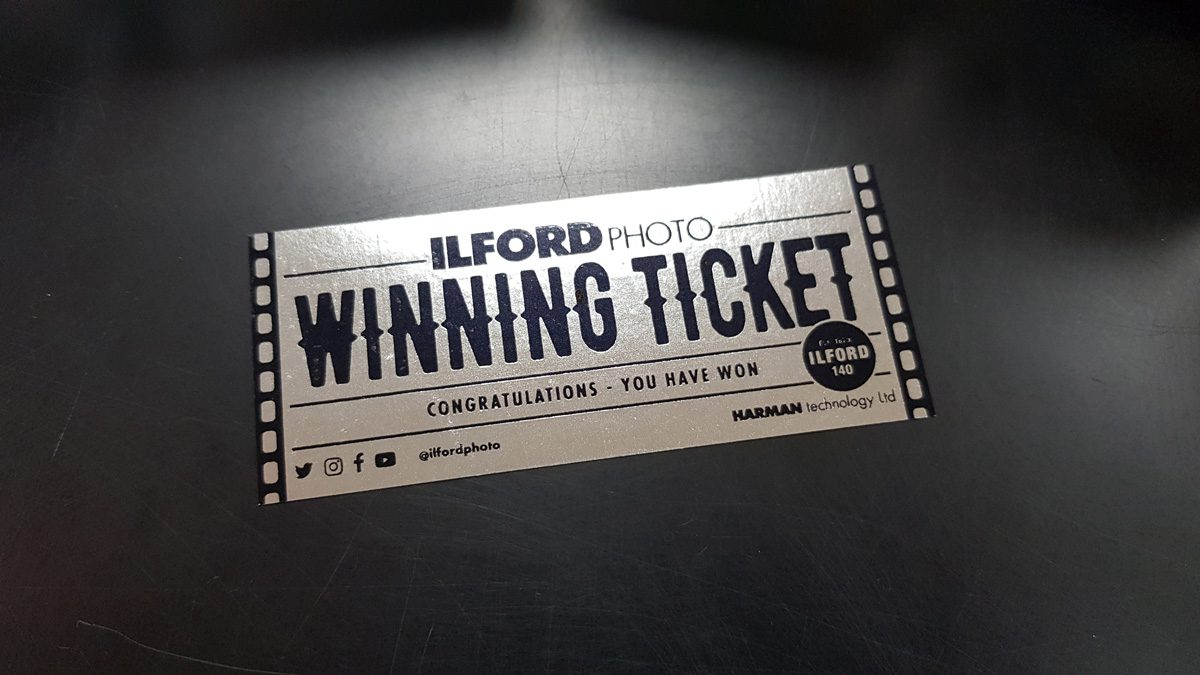 ilford photo 140 year Silver Winning ticket