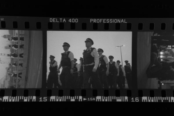 Photojournalism shot on Delta film.