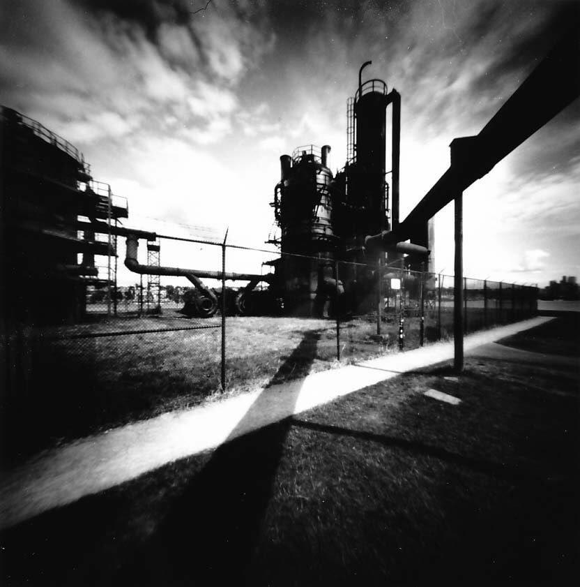 DrMarsRover Gasworks Park, final print @ILFORDPhoto PanF+ | @realitysosubtle 6x6 pinhole | MG Fiber #darkroomprint #ilfordphoto #fridayfavourites #ilfordpanf