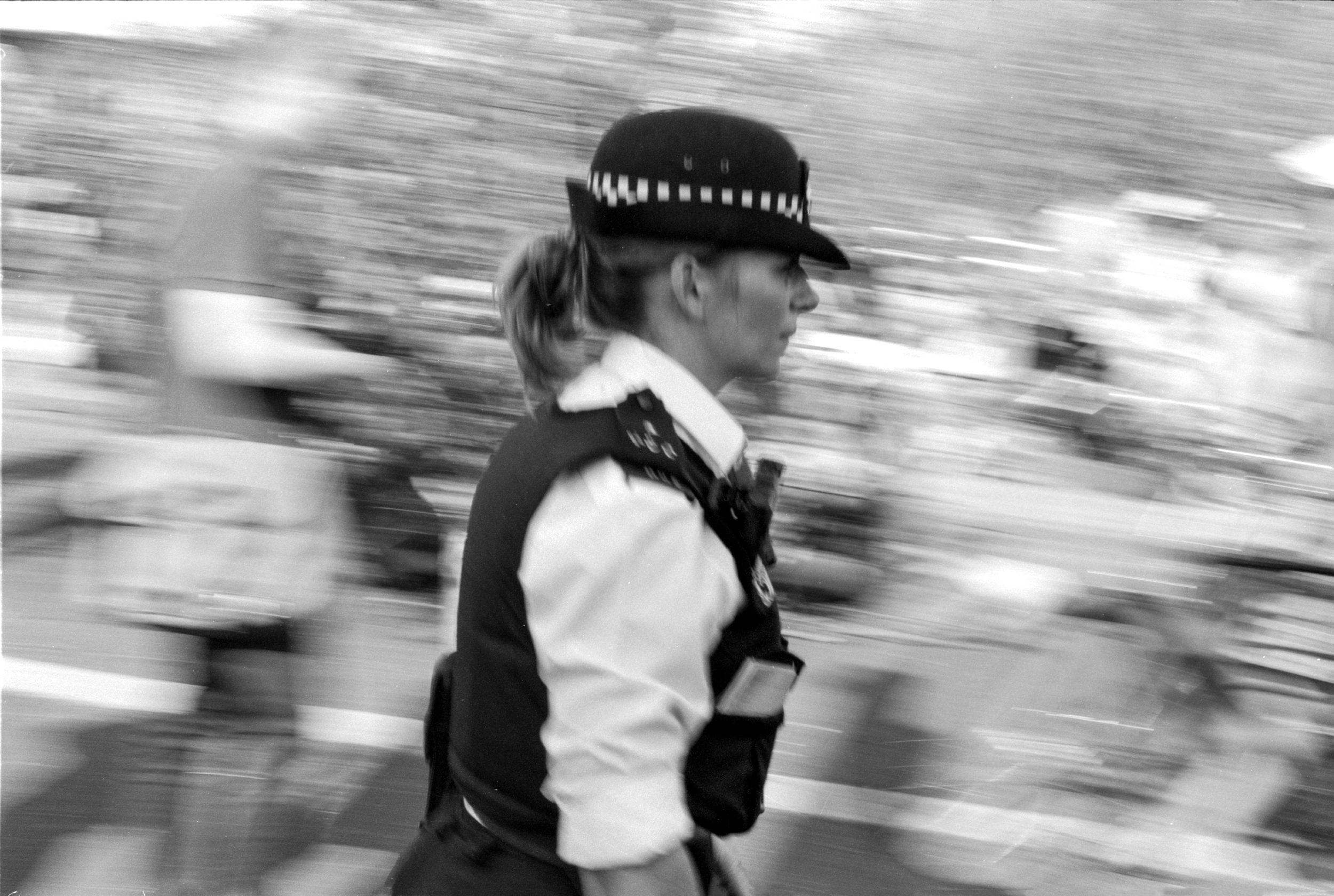 Photojournalism shot on Delta film.