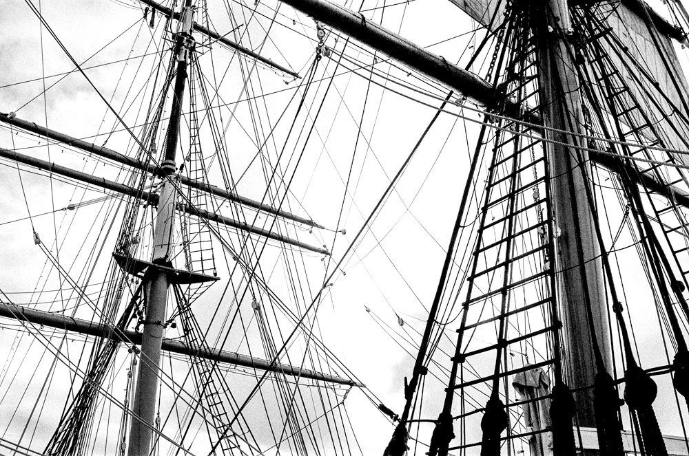 @pbconstant · 15h Maybe a tad late #ilfordfphoto #fridayfavourites #lines Star of India, San Diego, HP5+