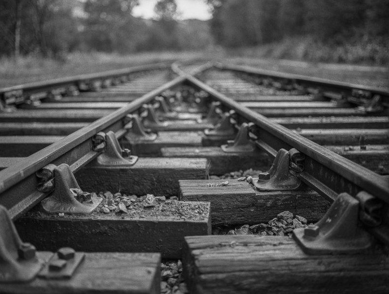 "@timdobbsphoto · Oct 15 ""Rail Tracks"" .. Mamiya 645 on ilford Delta 400 for @ILFORDPhoto #fridayfavourites #depthoffield @EMULSIVEfilm #believeinfilm"