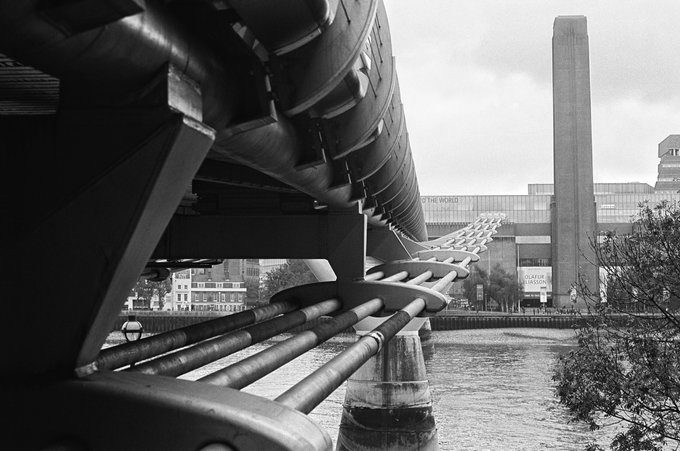 @Givemeabiscuit Tate Modern. London. Olympus OM1n. @ILFORDPhoto Ortho Plus. #ilfordfilm #fridayfavourites #ilfordortho #believeinfilm