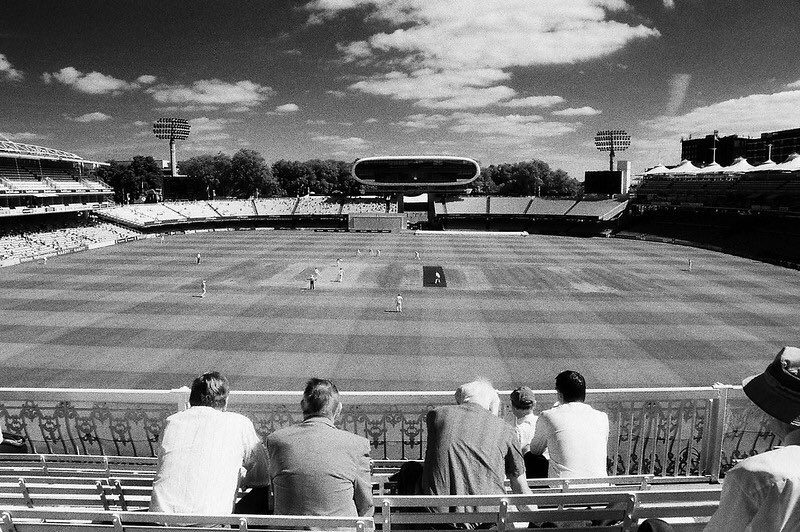 @pjmeade Replying to @ILFORDPhoto A day watching cricket. Shot on SFX200 and a Red 25 filter. #ilfordphoto #fridayfavourites #goingout