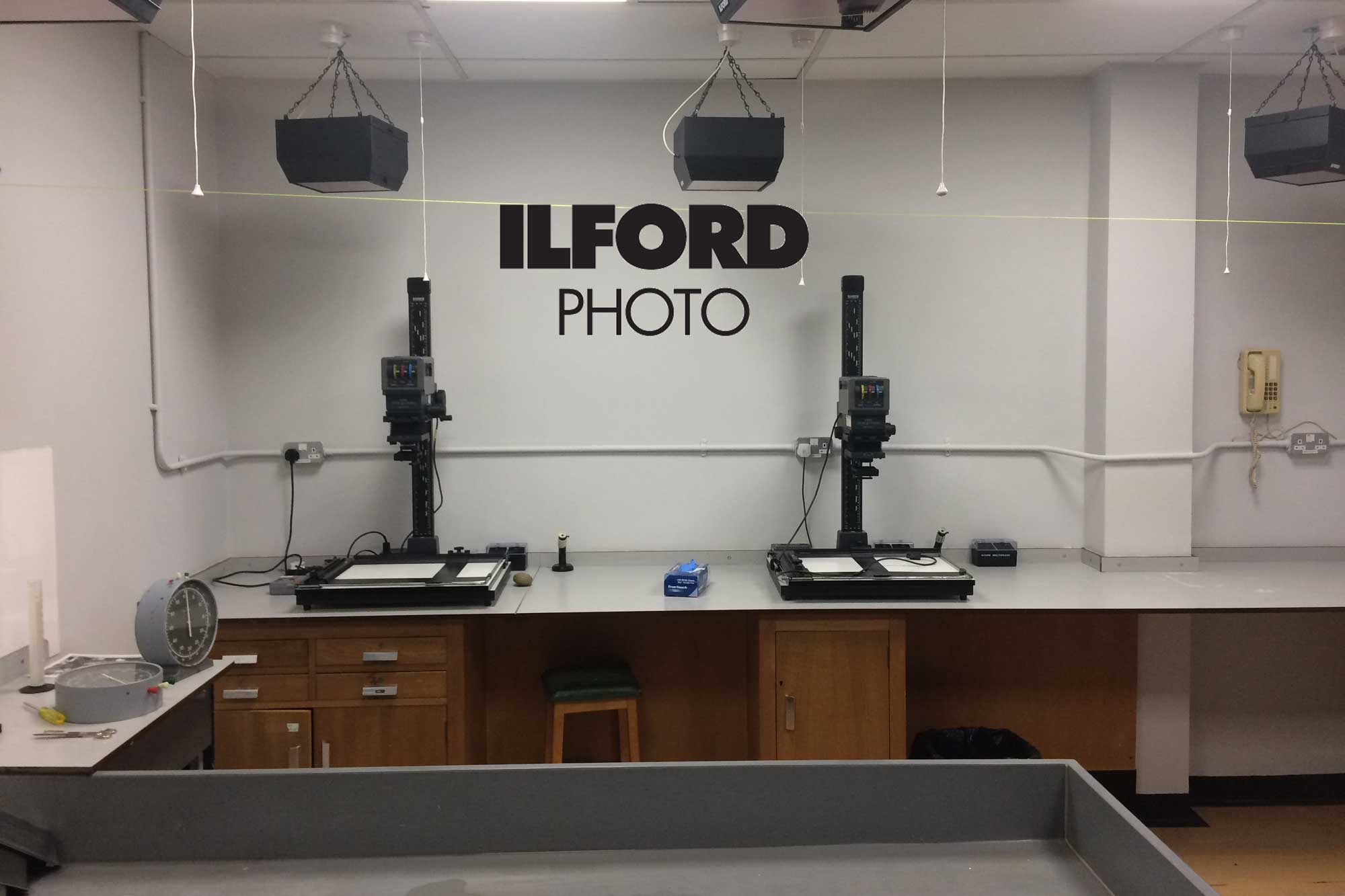 Ilford Photo darkroom