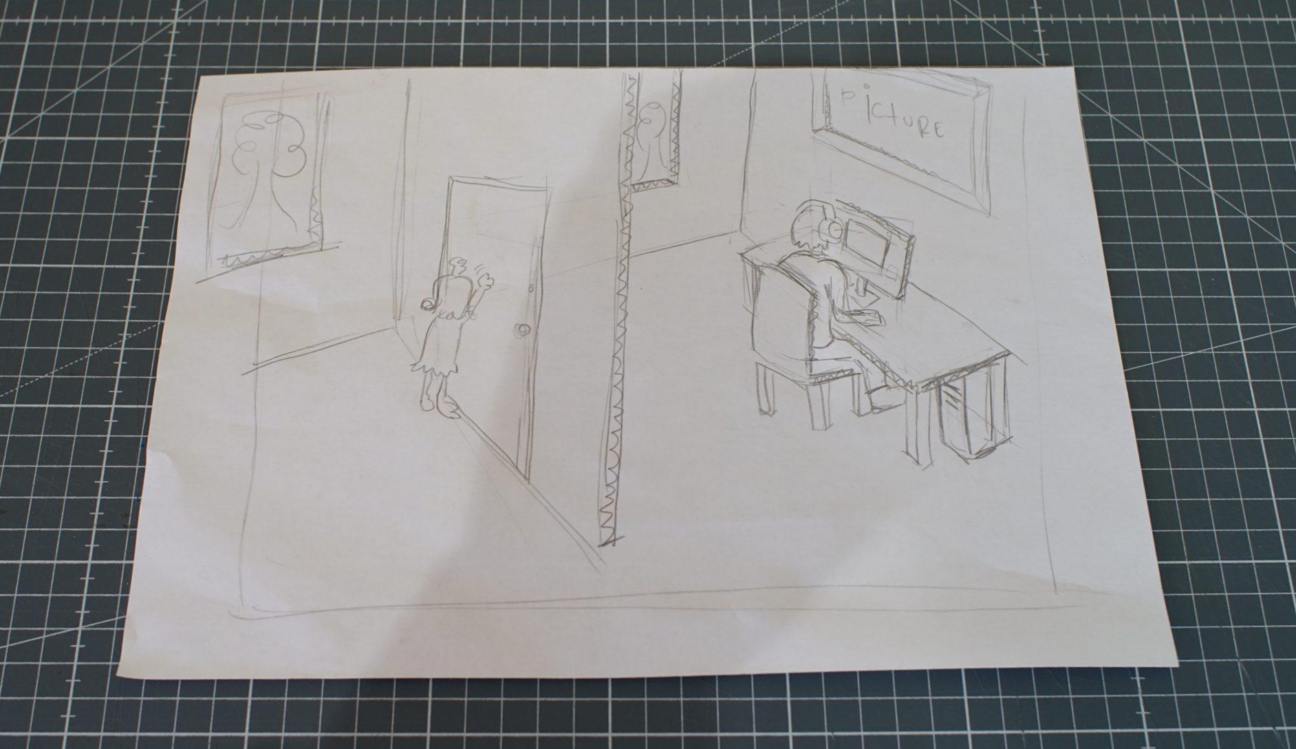 Sketch of scene