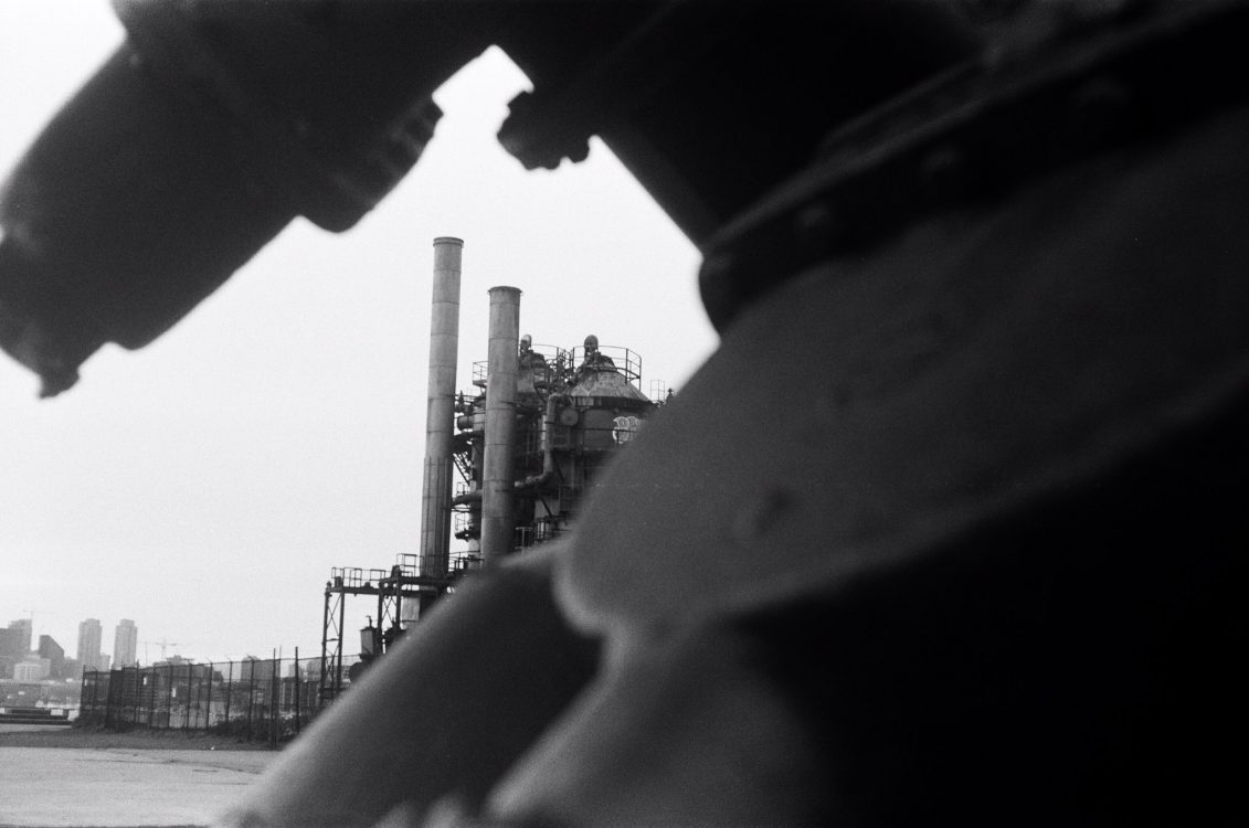 """@db47ag Replying to @ILFORDPhoto This image of Seattle Gasworks was taken on ILFORD FP4 PLUS with a Retina IIa and reminded me of """"Dirty Old Town"""" by Ewan MacColl - """"I met my love by the gasworks wall. . ."""" #ilfordphoto #fridayfavourites #lyricsandfilm"""