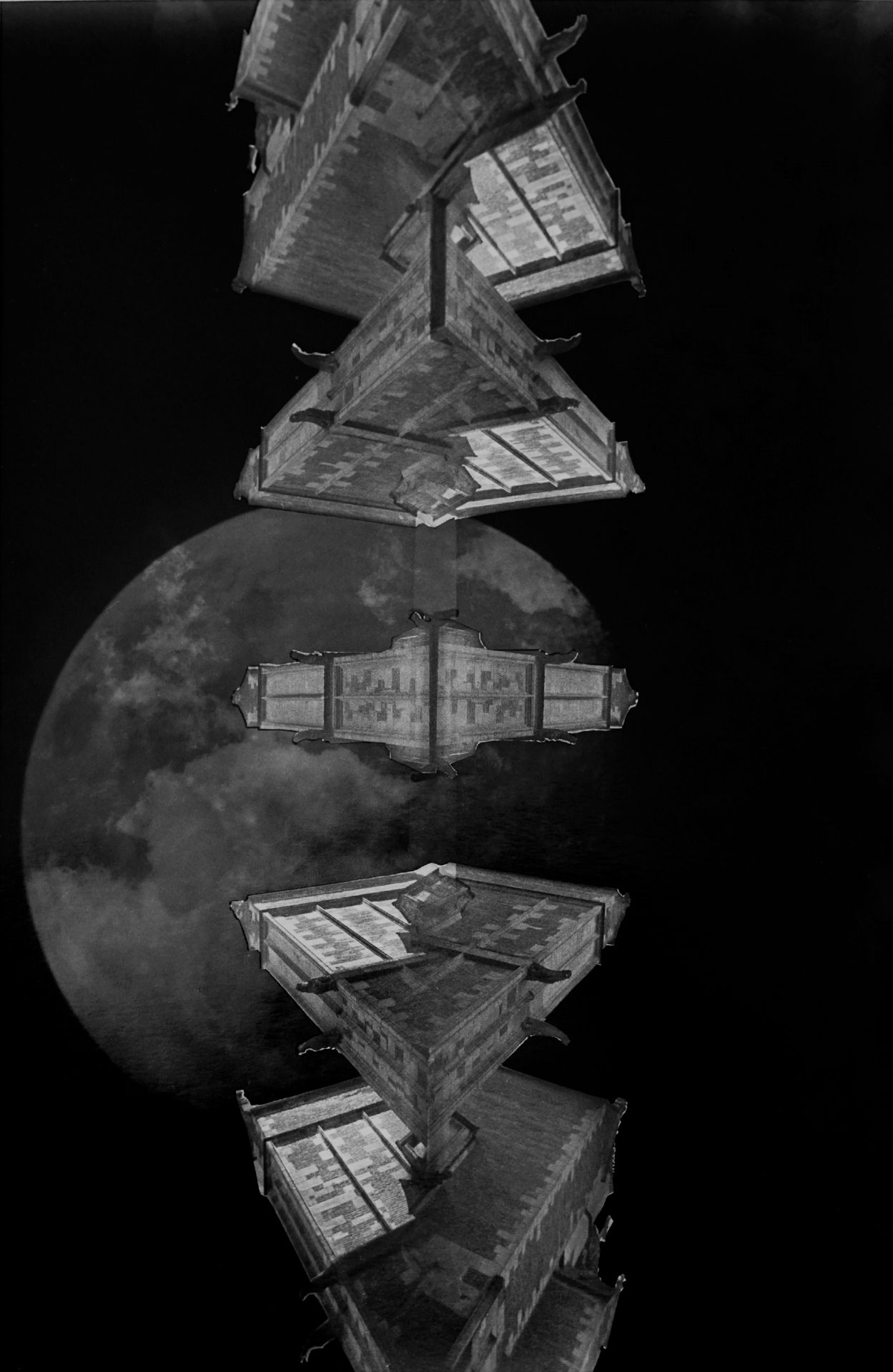 "Fleet Web by David Allen (""Space Triptych: Split level 
