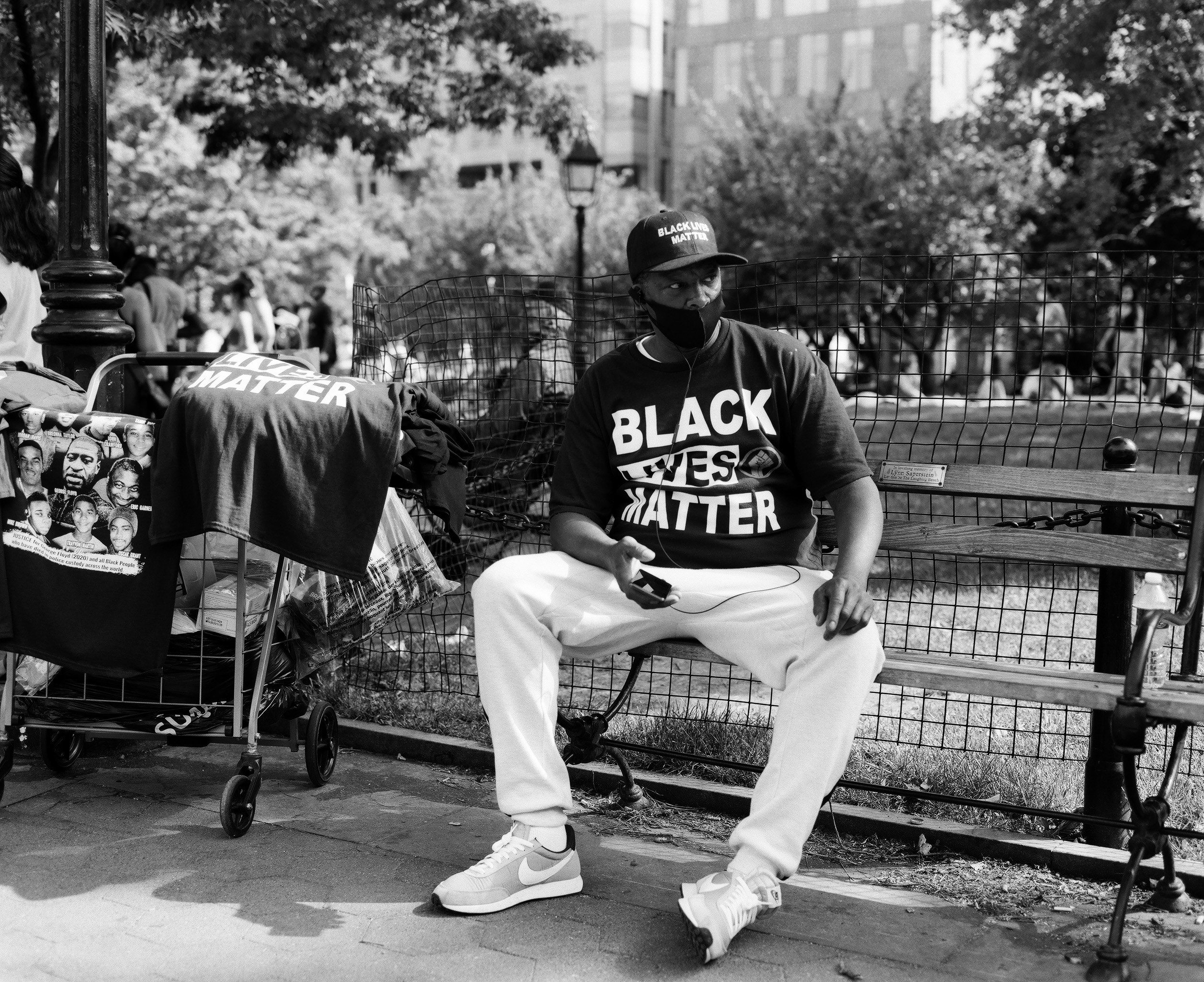 Art and Activism shot on ILFORD Delta 100 with Mamiya RB67 in Manhattan, NYC ©Kevin Claiborne