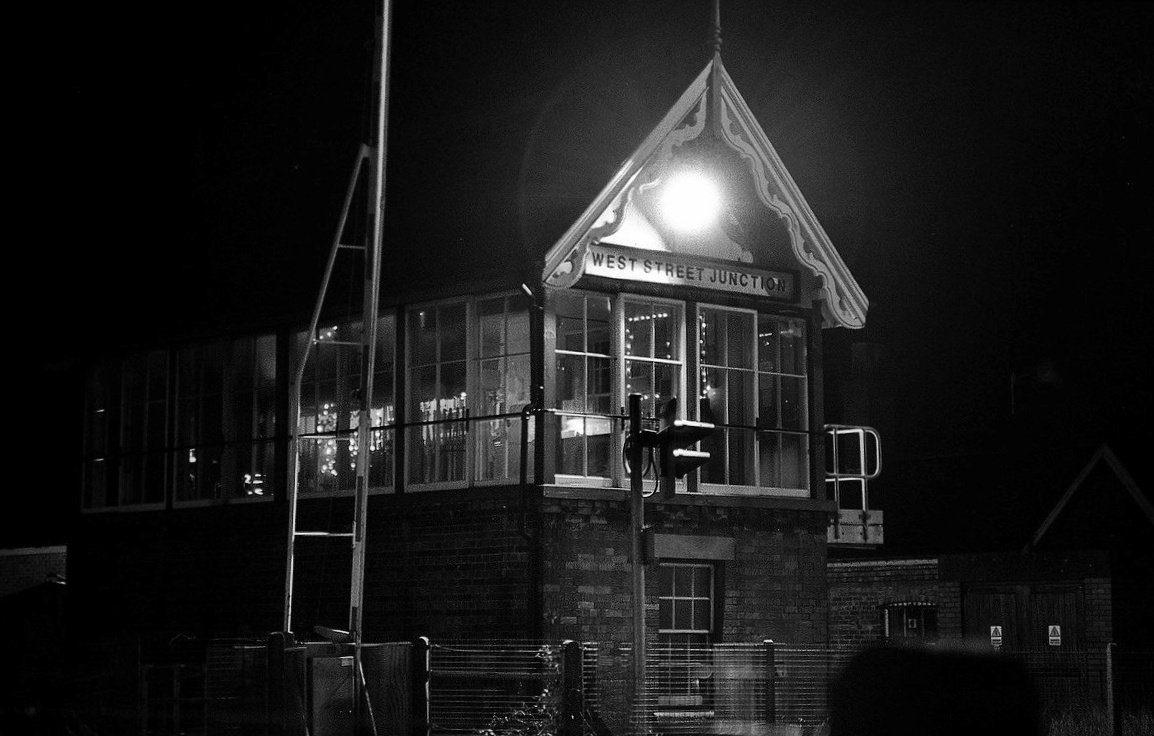 @JohnScarbro1 Junction Box. @ILFORDPhoto FP4+ Minolta 505si #believeinfilm #filmphotography #blackandwhitephotography #analogphotography #ilfordphoto #fridayfavourites #nighttime #ishootfilm