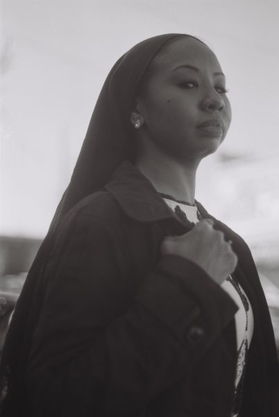 black and white image shot on ILFORD Delta film by @Rita Harper