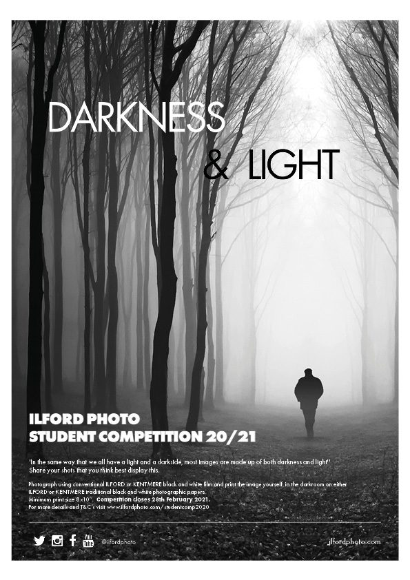 Darkness and light student competition poster