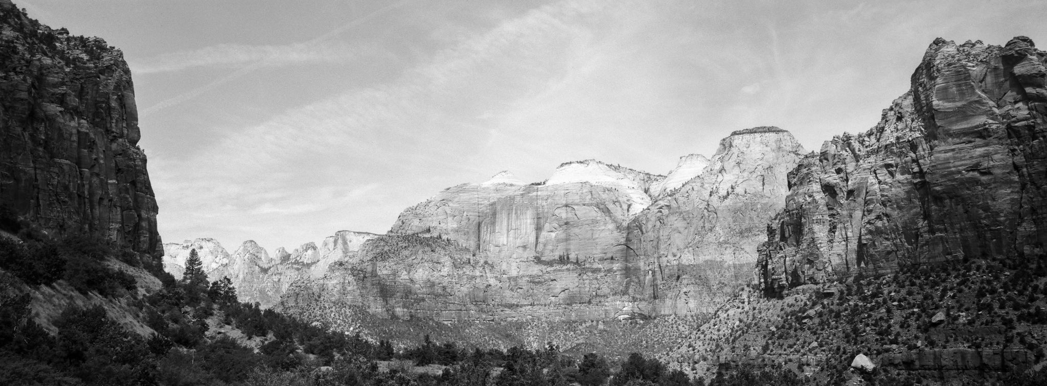 @danrubin Late in the game but this week's @ILFORDPhoto #fridayfavourites gave me an excuse to finally start digging through scans from a summer 2017 trip through the Southwestern United States — including this XPan shot from the amazing Zion National Park. #shotonpanf