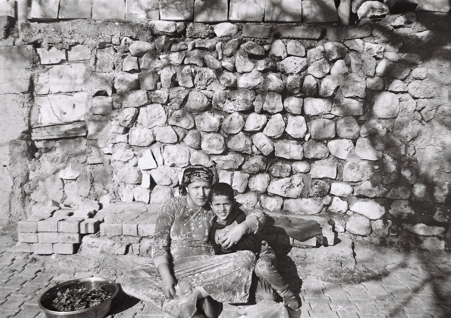 Photo by Menal she is 12 years old from Kobani ( Photo of her Monther and young brother ) ilford Pan 400