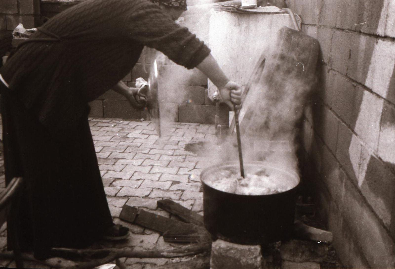 Photo by Serhad he is years old from Mardin Turkey ( Photos of his mother while cooking ilford Pan 400