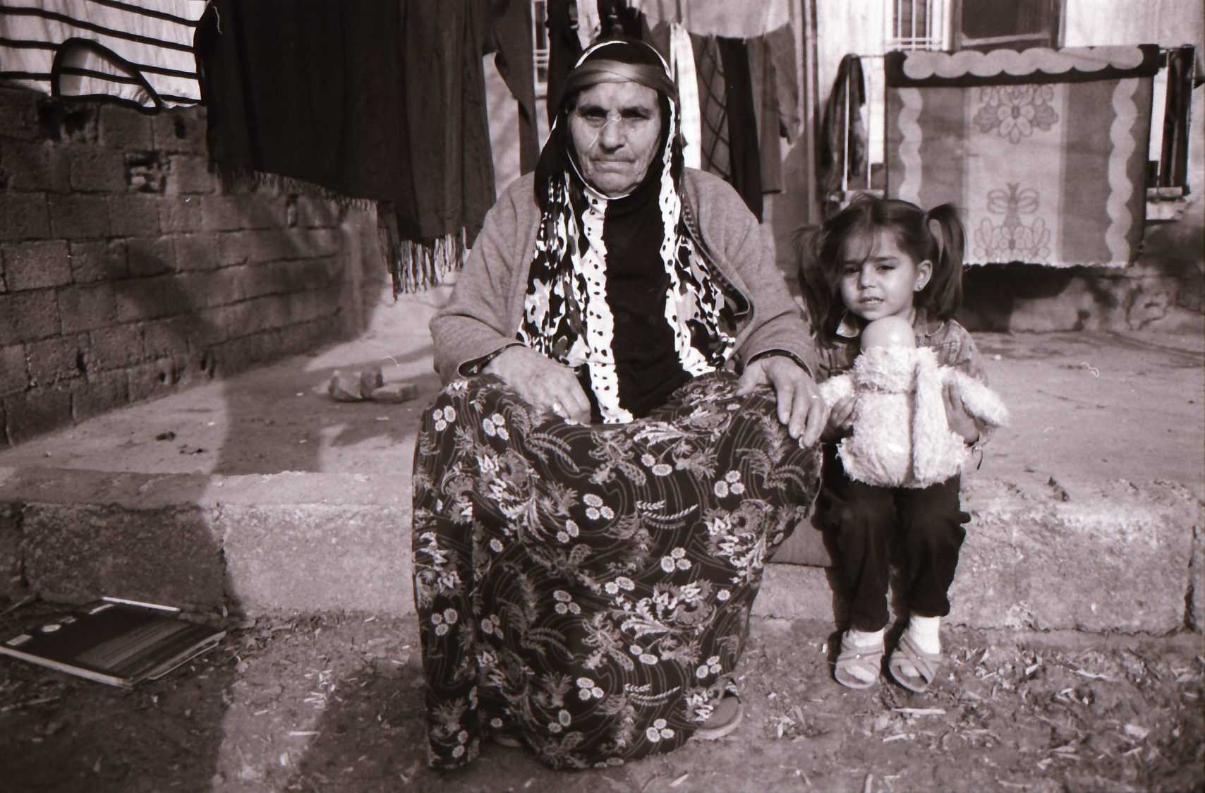 Photo by Yara she is 12 years old from derbasiye Syria (Selife with her friends at school ) ilford Kentemere 400 2
