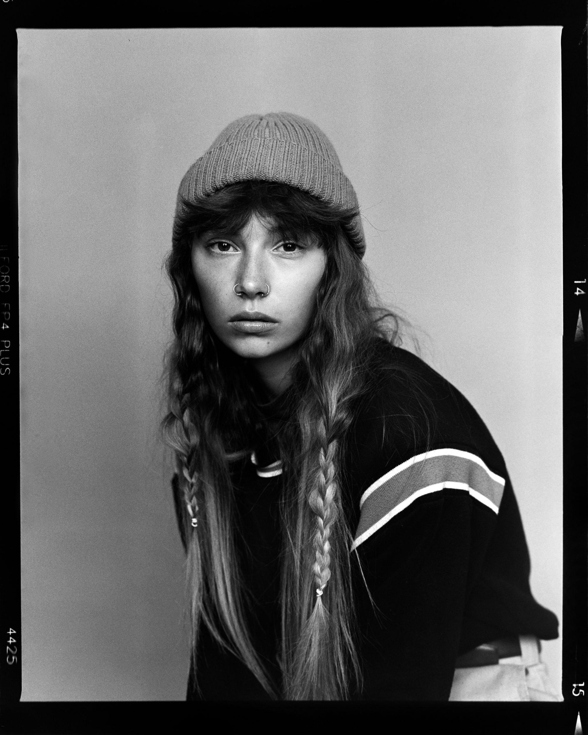 black and white portraits shot on ILFORD FP4 Plus film by Craig Fleming