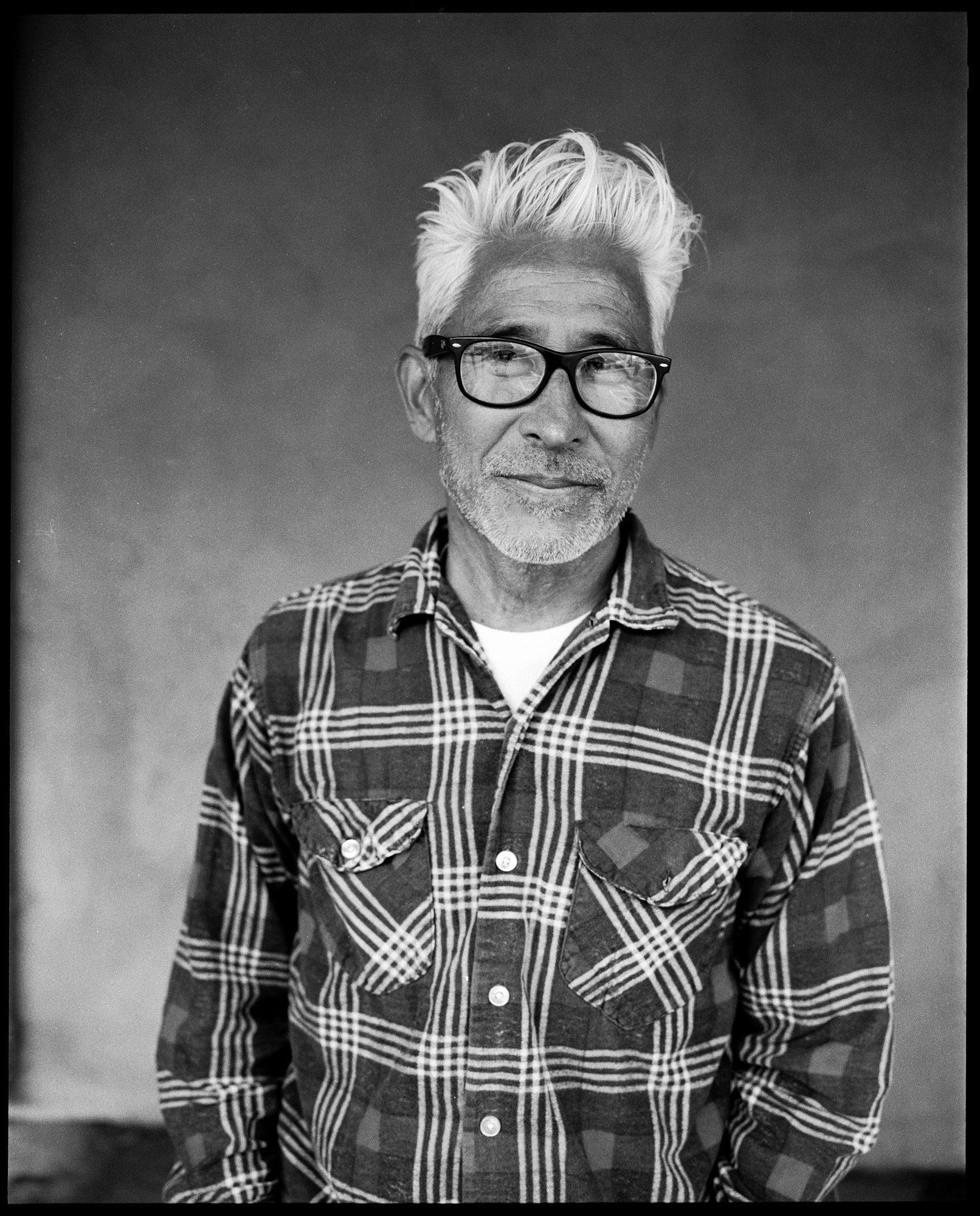 Portrair of Yoki from Yokishop - by Brett Hillyard on ILFORD black and white HP5+ Film