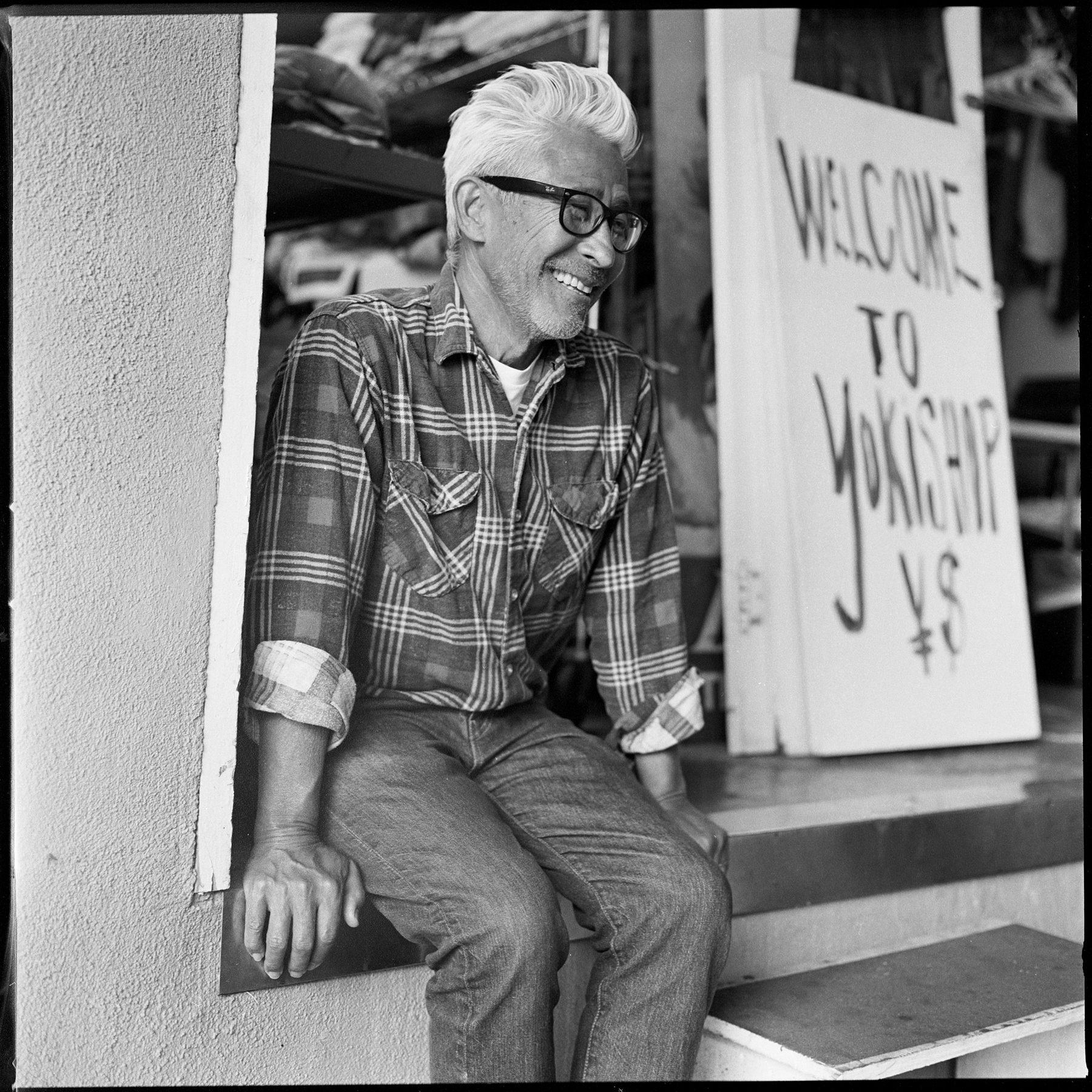 Portrait of Yoki by Brett Hillyard on ILFORD black and white HP5+ Film