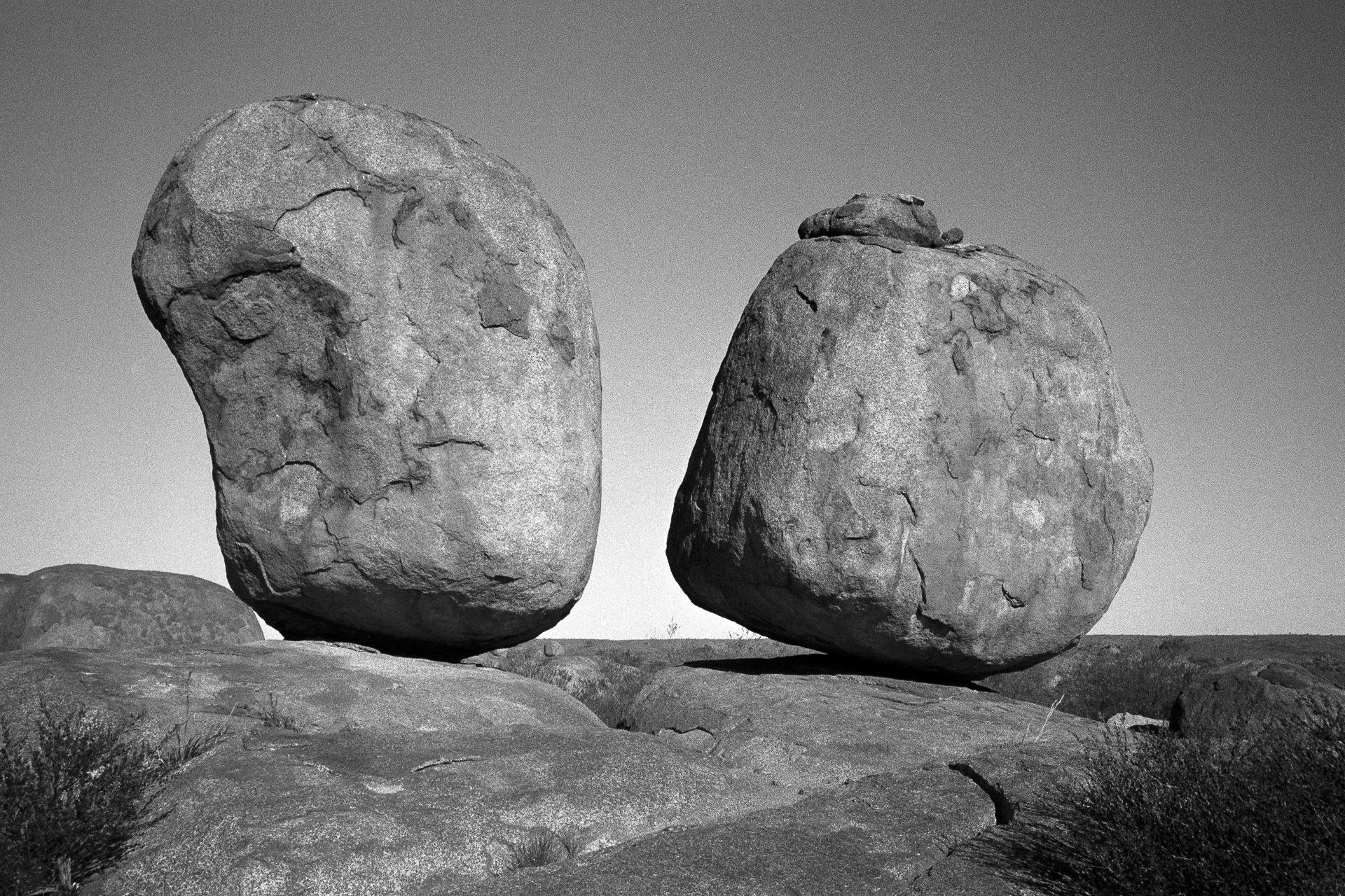 Devils Marbles, Australia. For this weeks #ilfordphoto #fridayfavourites theme #shotondelta400 #believeinfilm #blackandwhitephotography