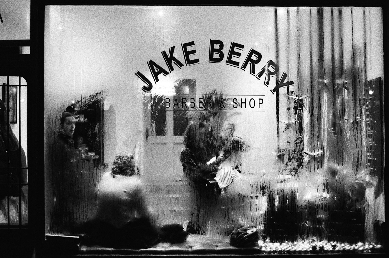 Black & white film photography by Sandeep Sumal Barbers_Brighton_HP5_OlympusOM1n