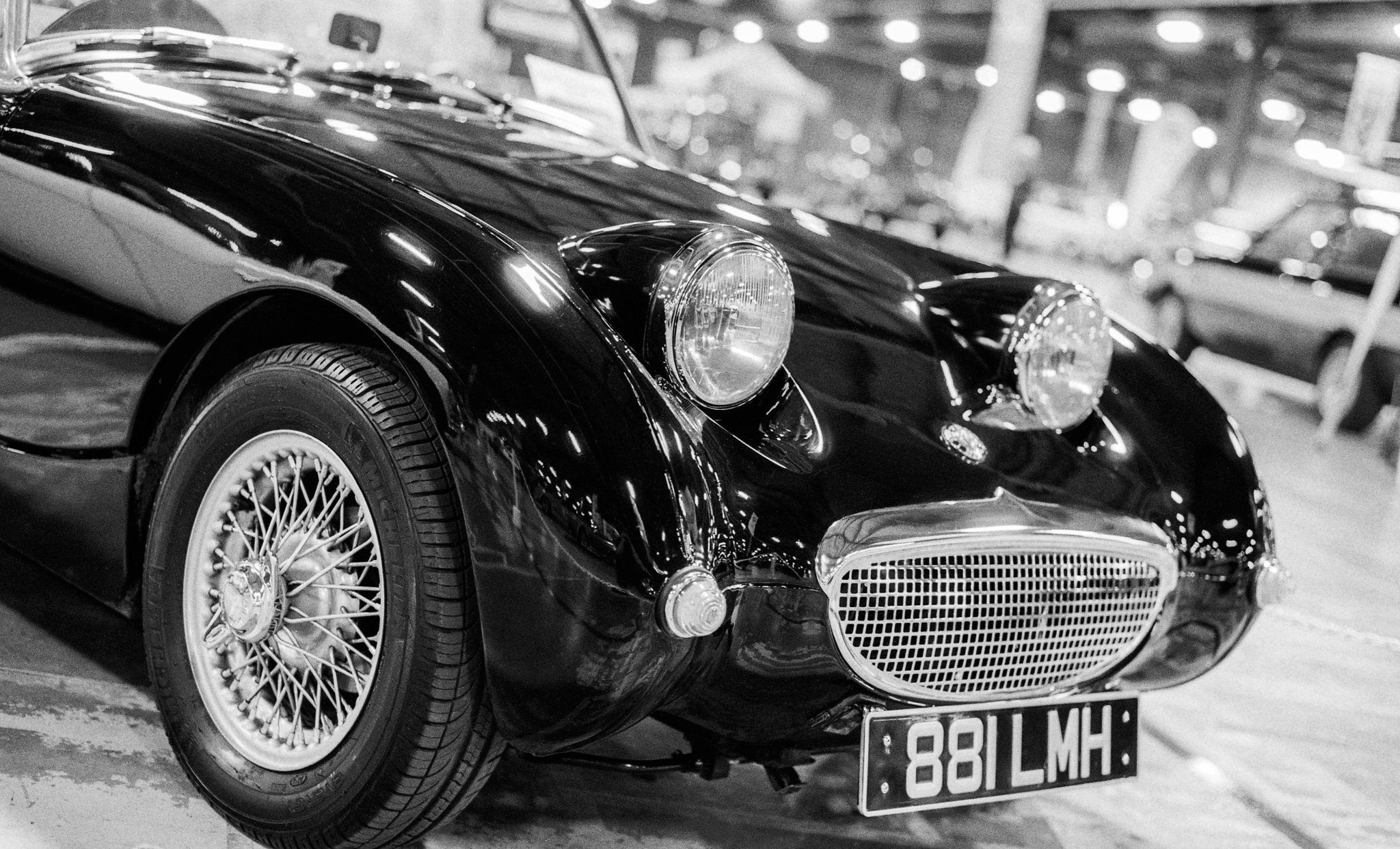 @CamShaw74 Replying to @ILFORDPhoto #ilfordphoto #fridayfavourites #kentmerefilm Austin Healey Sprite, taken at Event City in Manchester. Kentmere 400 pushed to 800 and developed in ilford DD-X(1+4). Pentax K1000 with 50mm f/1.7