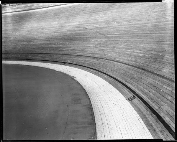 velodrome track shot on black and white delta100 film by Matt Ben Stone
